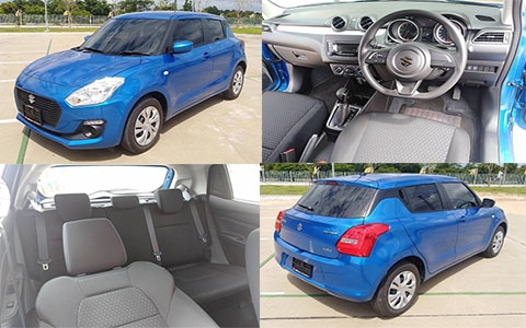 A NEW SUZUKI SWIFT BLUE
